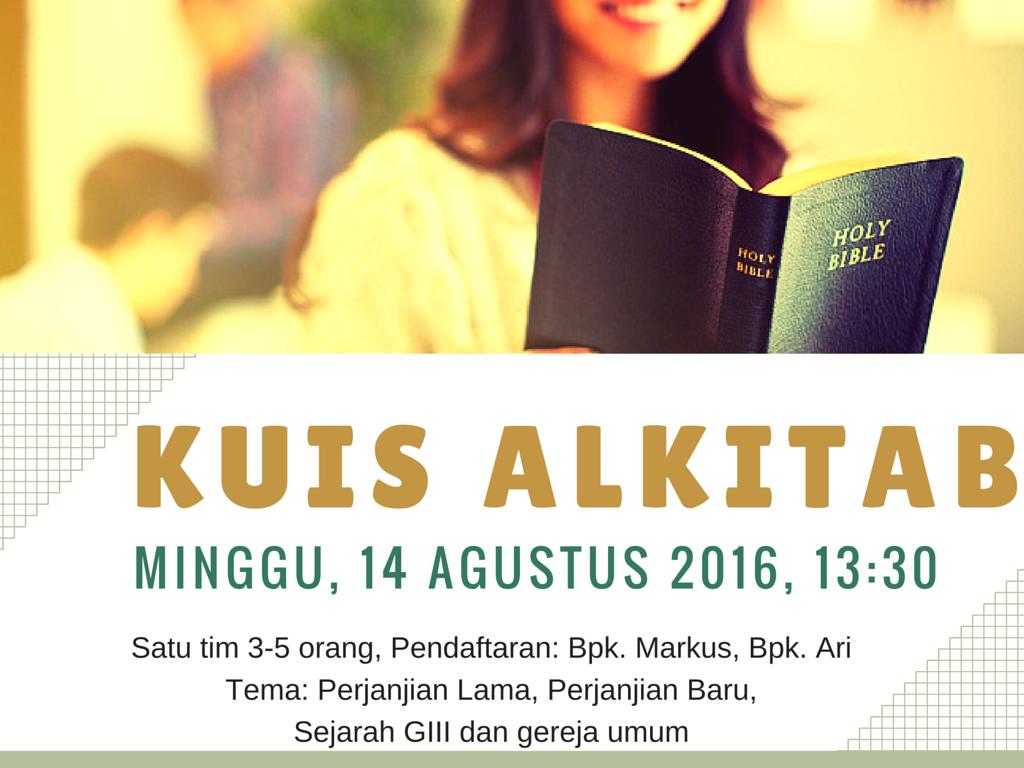 Flyer Kuis Alkitab GIII Tokyo 2016